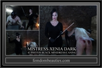 MISTRESS XENIA DARK MINIDRESS CANING