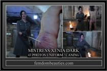 MISTRESS XENIA DARK UNIFORM CANING