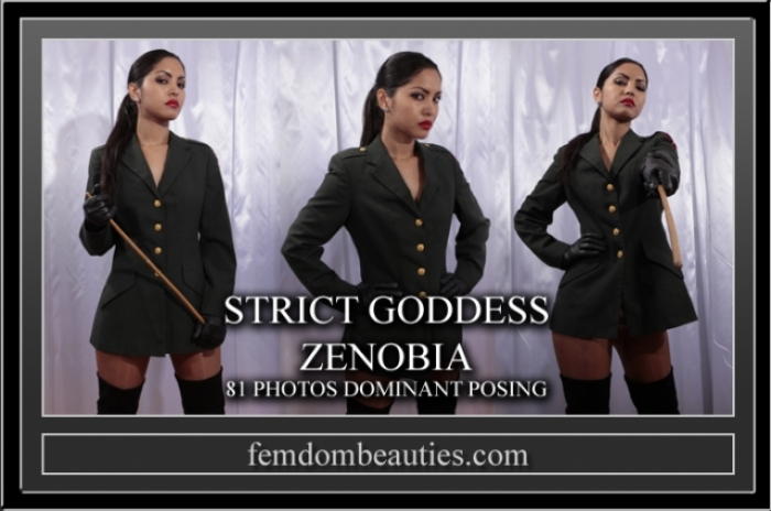 GODDESS ZENOBIA DOMINANT POSING UNIFORM